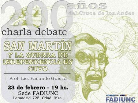 SAN MARTÍN Y LA GUERRA DE LA INDEPENDENCIA EN CUYO - FACUNDO GUERRA - 23 de Febrero