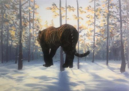 Tiger, 2019, Öl auf Leinwand, 50x70 cm