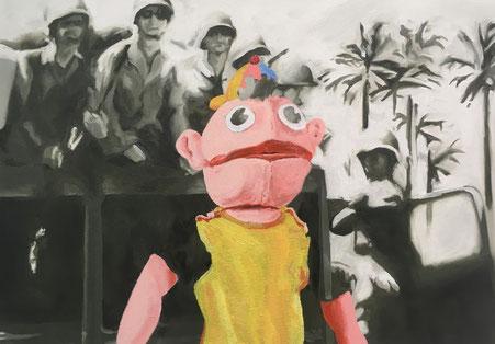 Puppe, 2019, Öl auf Leinwand, 50x70 cm