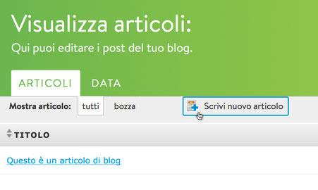 Scrivere blog