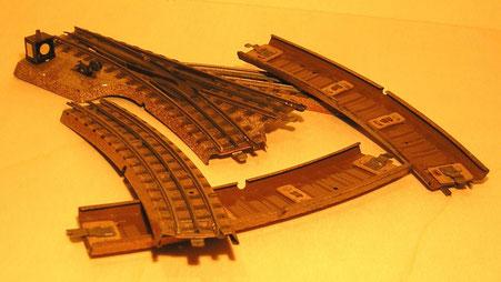 Vorkriegsgleis 3600 mit 7 mm Schwellenabstand
