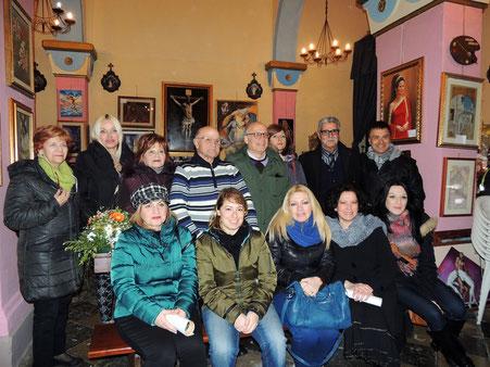 Foto di gruppo degli artisti partecipanti. ( Foto di Pasquale Raffo )