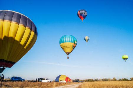 Hot air balloon in Kiev, Ukraine