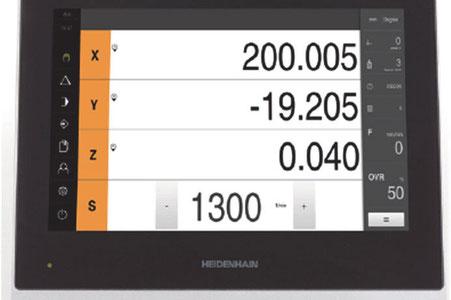 """Digitale Anzeige Heidenhain Positip 8016 mit 12"""" Touch Monitor für die optimale Übersicht."""