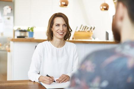 Christina Witte - im ersten Gespräch mit Ratsuchendem