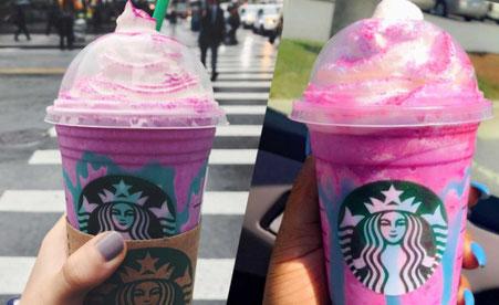 Frappuccino® sabor unicornio de Strabucks®