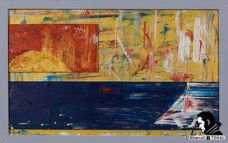 Malerei  von Shenoll Tokaj, Bild, Unikat Kollision, Copyright Shenoll Tokaj 2020