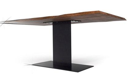 Tischgestell aus Rohstahl und Baustahl auf Mass