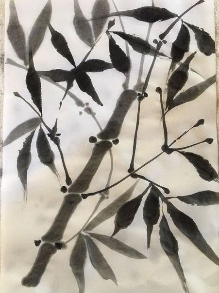 oeuvre à l'encre de Chine par Anne Delmer-Berhil