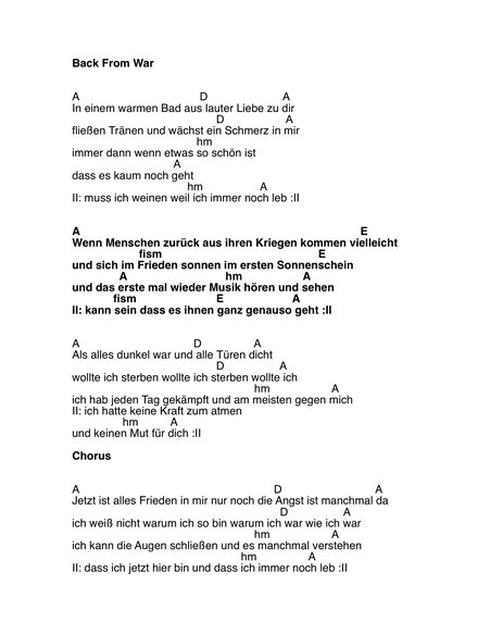 Texte & Chords - Maike Rosa Vogel