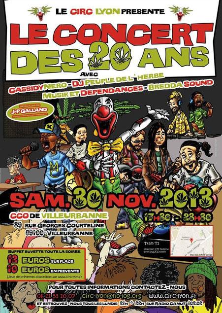 circ centre 30 novembre 2013 affiche