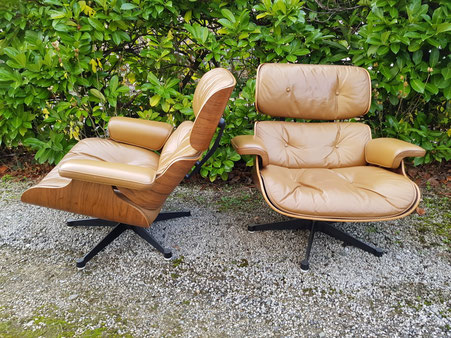 Cherles et Ray EAMES paire de Fauteuils LOUNGE CHAIR édition Mobilier international 1967