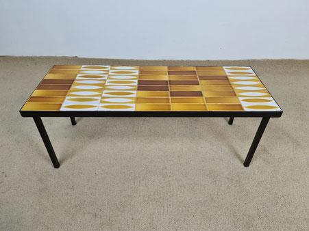 Roger Capron Table basse en céramique modèle Navette mado jolain blin  cloutier