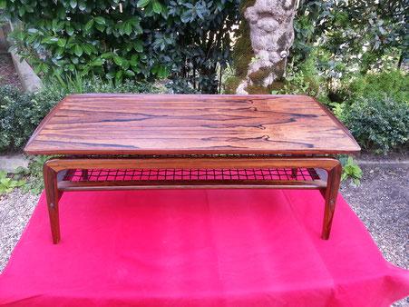 """Table basse en palissandre """" maison du danemark """" 1965"""