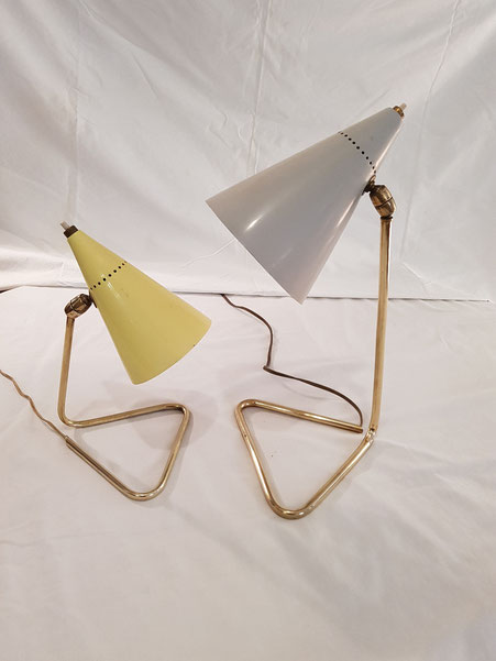 Gilardi et Barzaghi 2 lampes Cocotte italiennes des années 50
