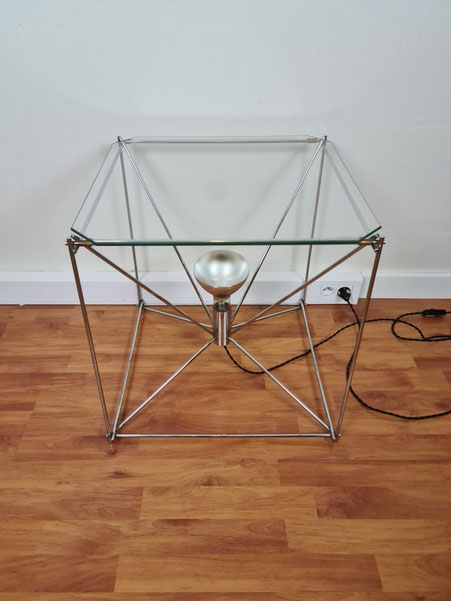 Table basse lumineuse de Max Sauze vers 1970