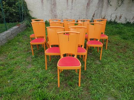 12 chaises Bauman 1976 france chair