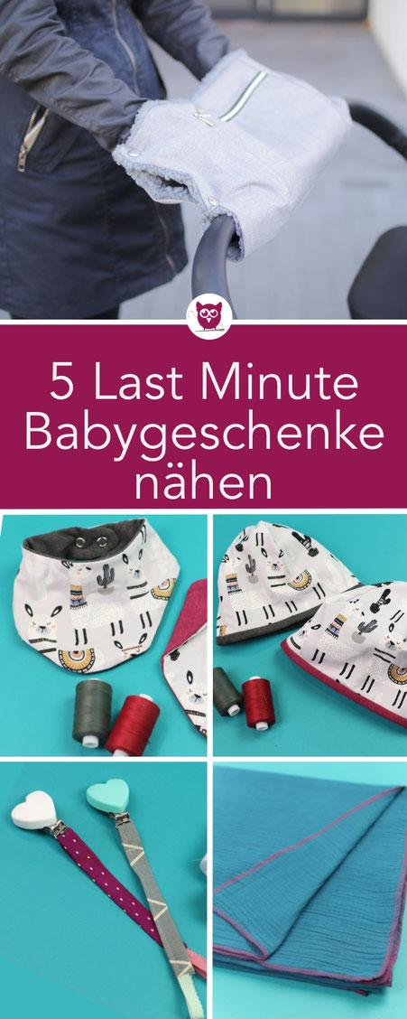 5 Last Minute Baby Geschenke Nahen Diy Eule