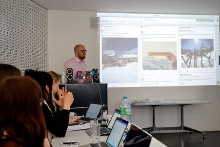 Referent Jeremy Kunz im  Einsatz am ersten Ritzy-Influencer-Seminar vom 25. März 2019