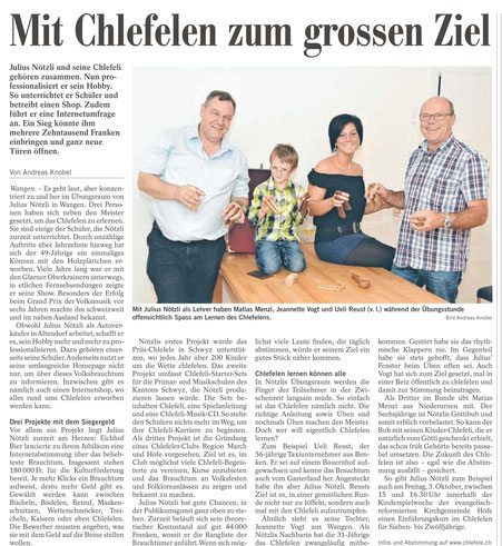 Julius Nötzli Chlefele Höfner Marchanzeiger