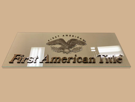 First American Home Office Sign