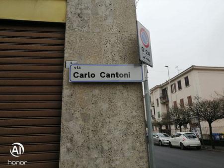 NUOVA SEGNALETICA IN VIA CARLO CANTONI