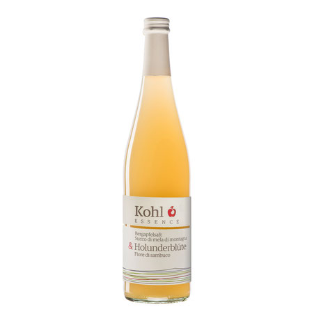 Kohl Bergapfelsaft Apfelsaft Holunderblüte Cuvée Gourmetsaft Saftgourmet alkoholfreie Alternative