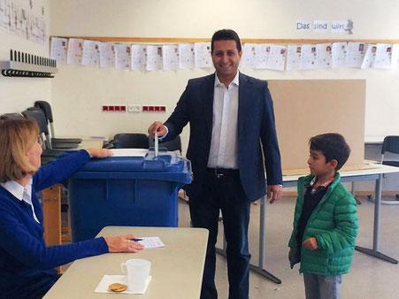 Stimmabgabe zur Bürgermeister- und Landratswahl am 27.09.2015