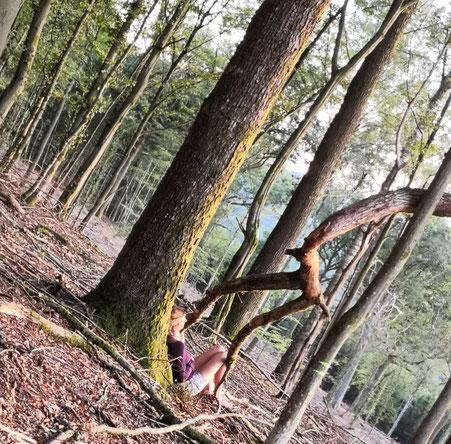 Pause au pied d 'un arbre