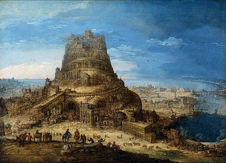 La tour de Babel et la confusion des langages par Dieu