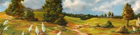Landschaft eines Airbrush-Künstlers