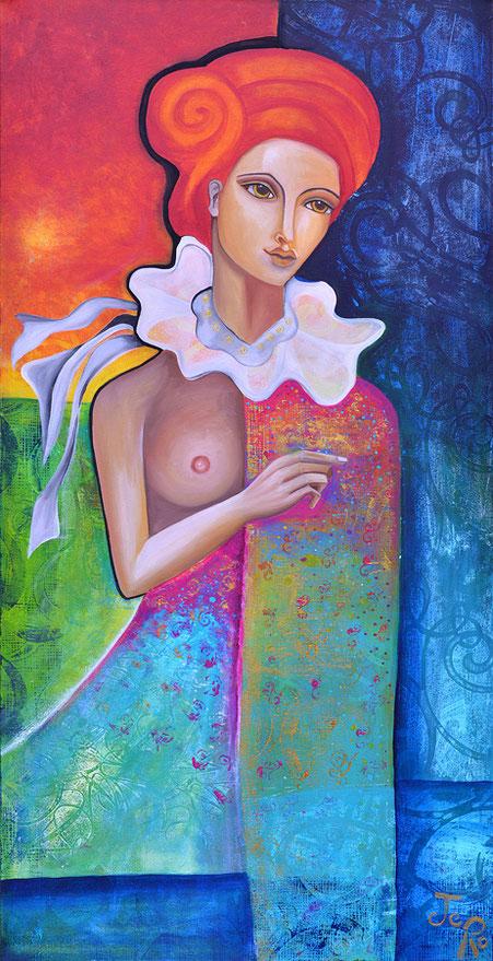Zora Acryl auf Leinwand 140 x 70