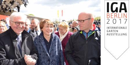 Dirk Hollenhorst mit Bundespräsident Frank-Walter Steinmeier und First Lady Elke Büdenbender