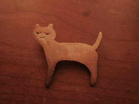 猫さん 真鍮ブローチ 京都、岐阜の手づくり市にて販売します