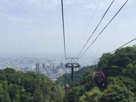 神戸布引ハーブ園ロープウエイ 神戸旅ブログ