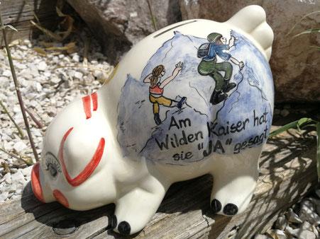 Spardose, Sparschwein, für Bergsteiger 63,-