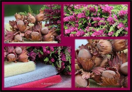 Herbststoffe Haselnüsse