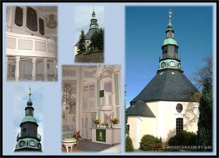 die barocke Seiffener Bergkirche wurde 1779 gebaut