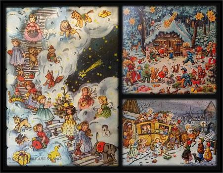 noch mehr Türchenkalender im Historischen Museum, einer schöner als der andere. Wer findet den Teddybären?
