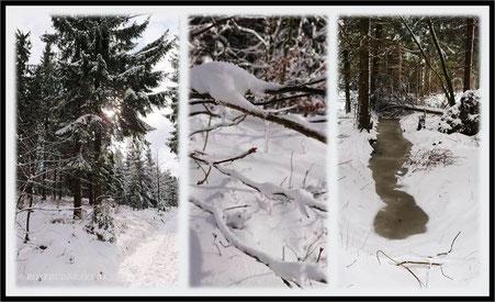 Erzgebirge Schwartenberg Seiffen Schnee