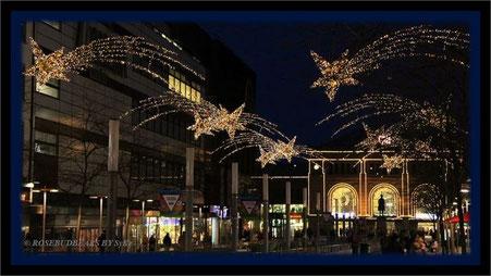 Hannovers City und Fußgängerzone - Sterne säumen den Weg zum Hauptbahnhof