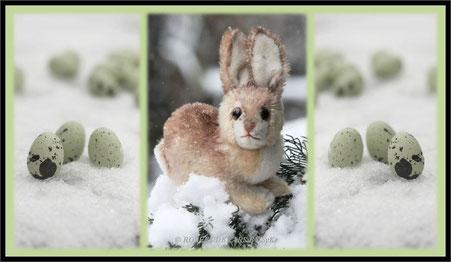 ein Steiffhäschen im Schnee
