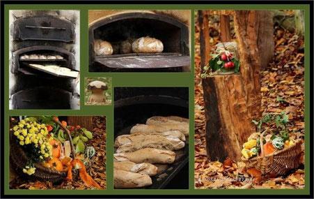 Brotbacken auf dem Hubertusfest bei der Mittelalterlichen Baeckerey