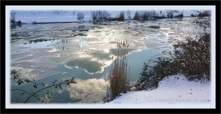 Eis und Schnee am Mittellandkanal / Bothfelder Bogen