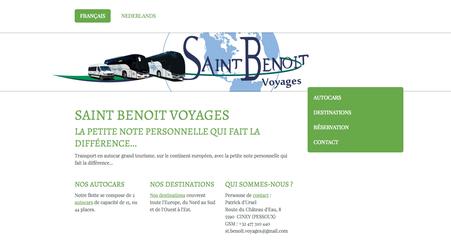 Le nouveau site de Saint Benoit Voyages