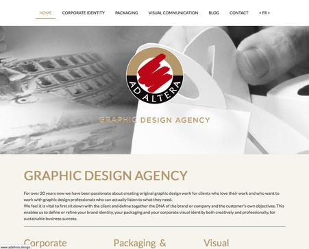 Le site d'Ad Altera en anglais (www.adaltera.design)
