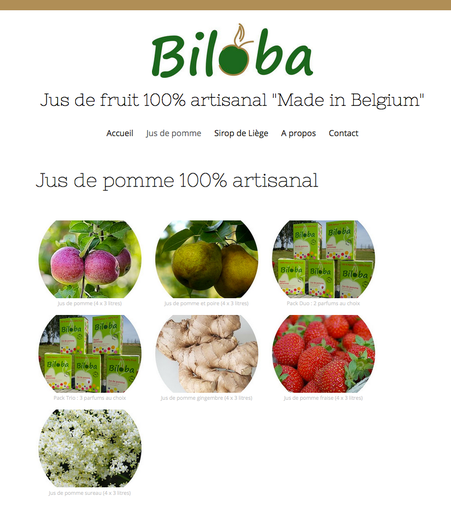 Biloba : le catalogue