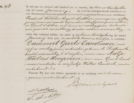 Overlijdensregister 1891,Bijzondere Strafgevangenis Leeuwarden