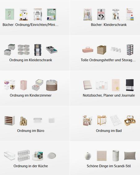 Produktempfehlungen für mehr Ordnung