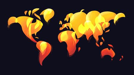 Unsere Erde steht in Flammen © Michael Stünzi